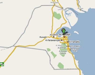 Cartina del Kuwait