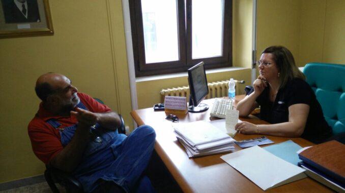 Un momento dell'intervista con Giorgione