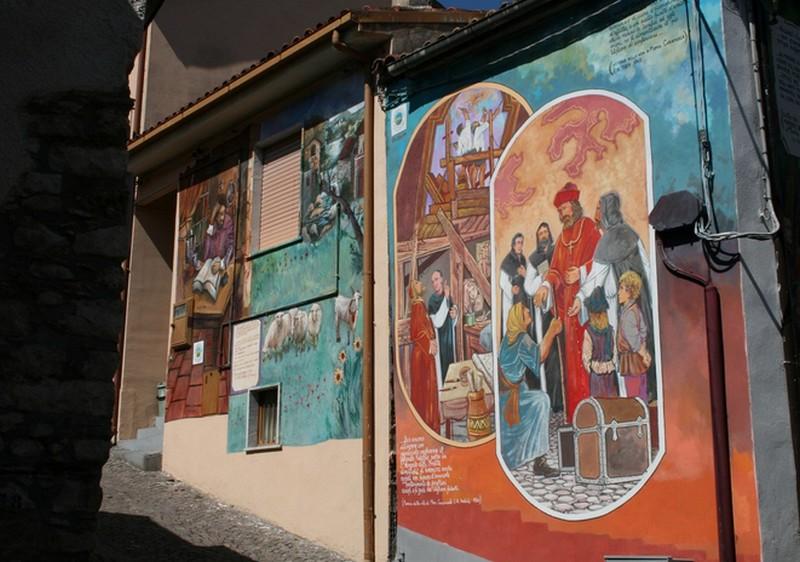 Murales Vescovo Caramuel di Francesco Costanzo e Sabato Rea, murales a Sant'Angelo le Fratte, Potenza