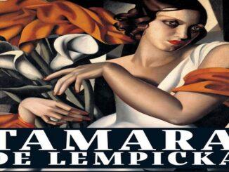 Mostra Tamara de Lempicka a Verona, particolare della locandina