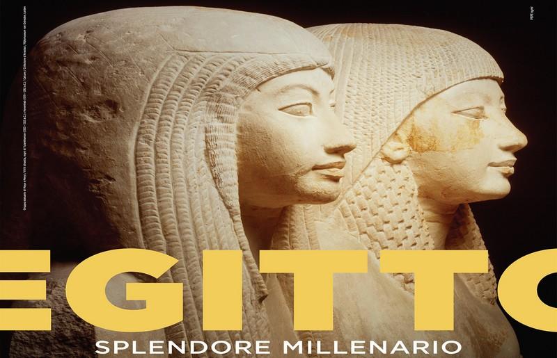 Mostra Egitto a Bologna, particolare della locandina