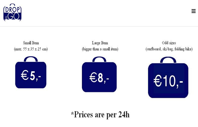 Drop&Go Amsterdam, i prezzi