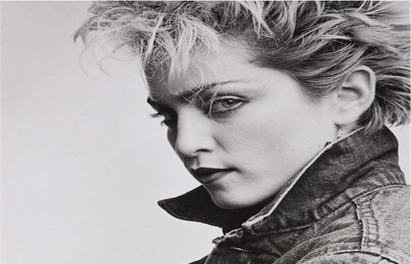 Madonna, dettaglio foto © Peter Cunningham, All Rights Reserved (via ONO Arte Contemporanea, Bologna)