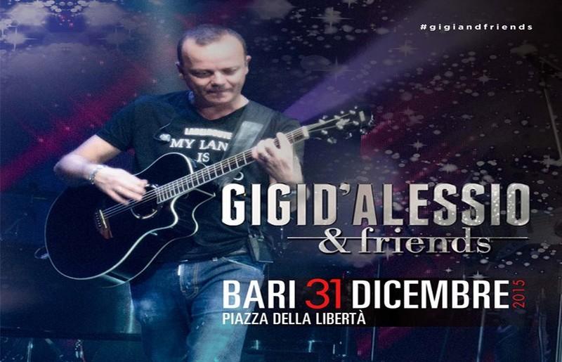 Capodanno 2016 a Bari con concerto di Gigi d'Alessio