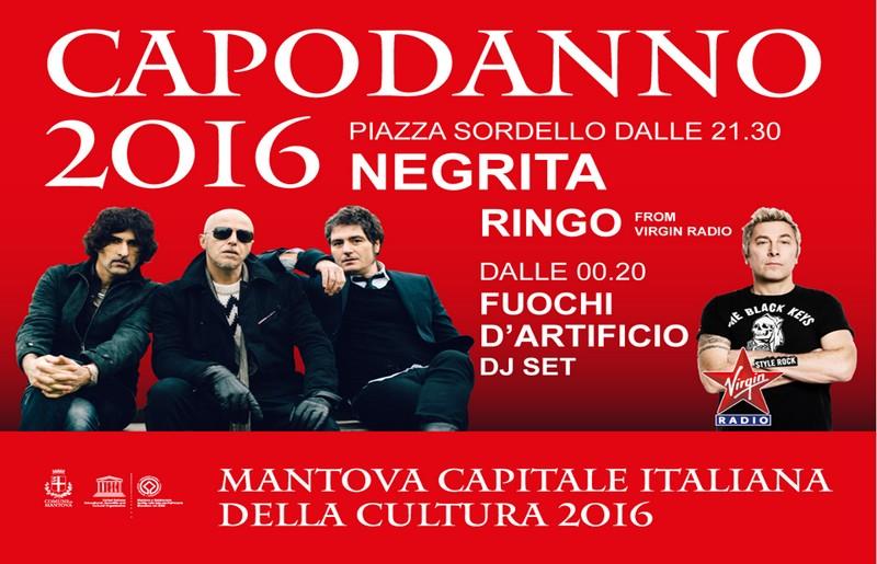 Le star del Capodanno 2016 a Mantova: i Negrita e Dj Ringo