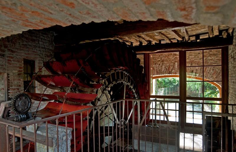La ruota del Romantik Hotel Mulino Grande di Cusago