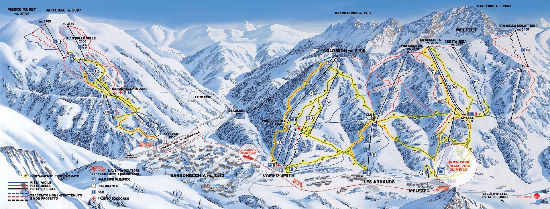 Piste da sci a Bardonecchia, Piemonte