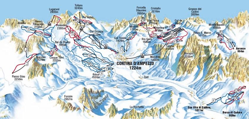 Cortina D'Ampezzo, piste