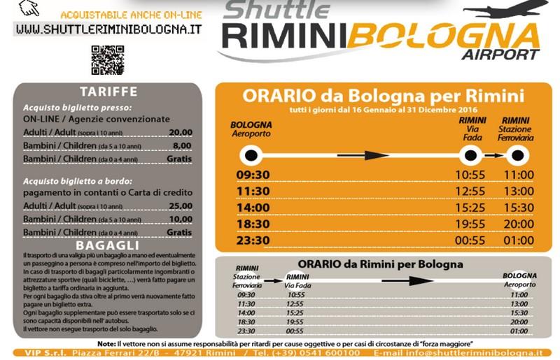 Shuttle Rimini - Aeroporto di Bologna: orari e prezzi