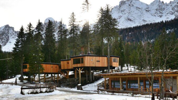 Case sull'albero in Alta Pusteria - ph Caravan Park Sexten