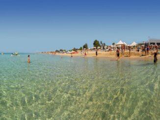 Marina di Ugento, la spiaggia nei pressi dell'Iberotel Apulia