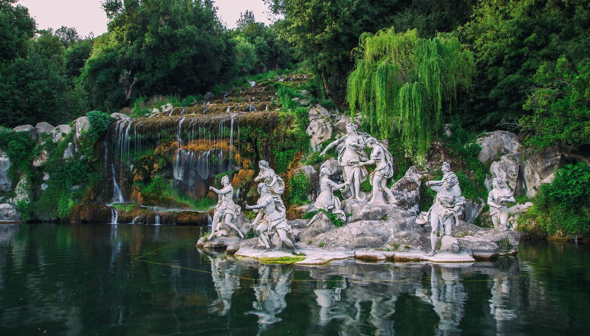 Bosco della Reggia di Caserta e annessa fontana - Foto di Rosario Esposito