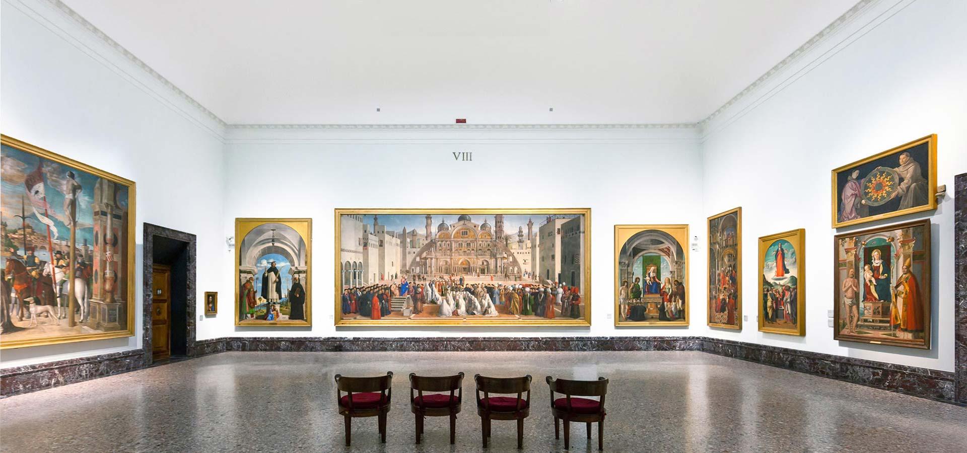 Una delle sale della Pinacoteca di Brera di Milano