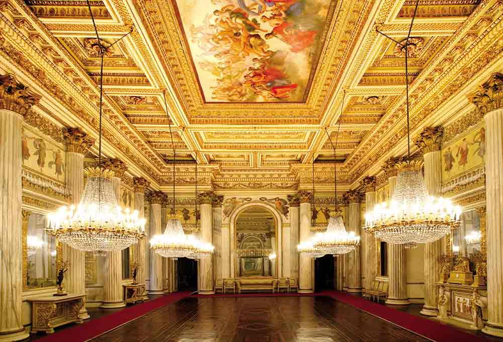 Una sala del Palazzo Reale di Torino