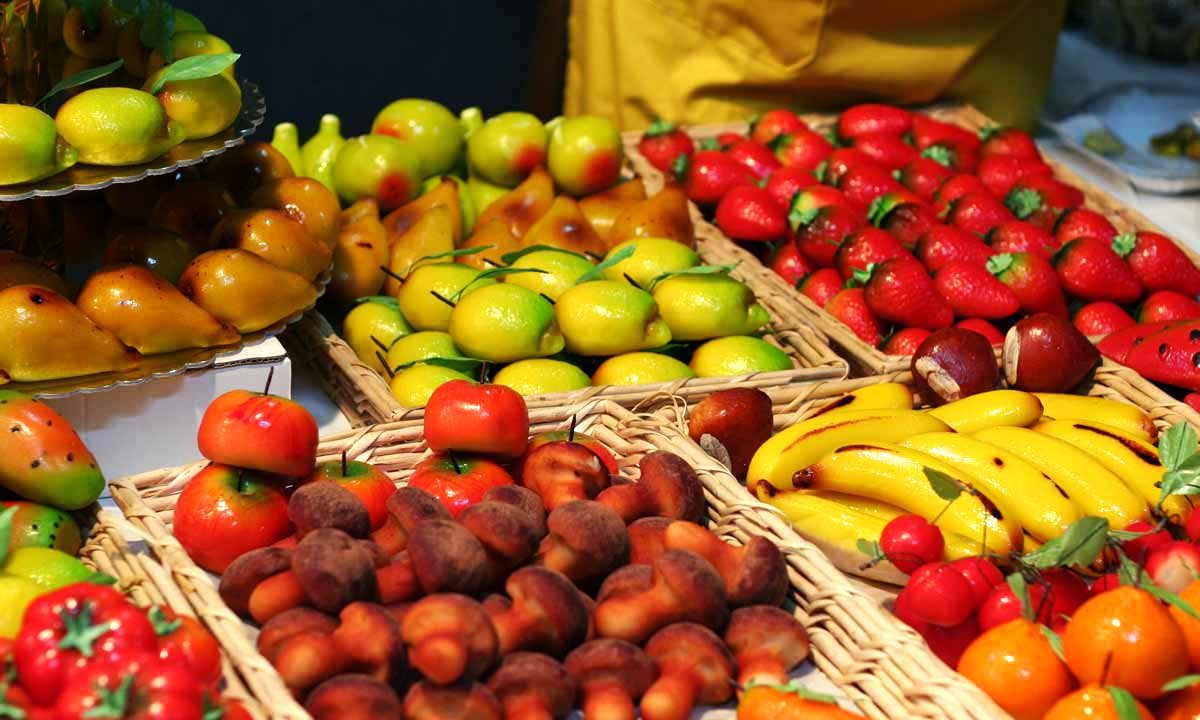 Frutta di Martorana, tradizione Siciliana ©Foto Associazione Cotumè
