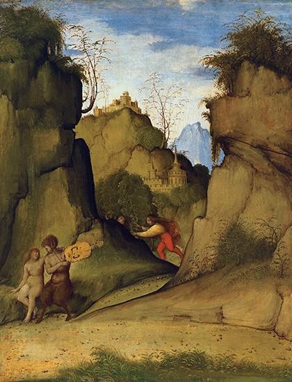 Giovanni Agostino da Lodi, Pan e Siringa. Madrid, Collezione Thyssen-Bornemisza.