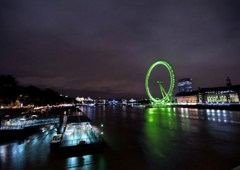 London Eye in verde