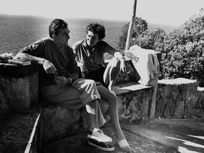Lucchino Visconti durante un suo soggiorno a Ischia