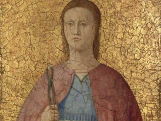 Piero della Francesca: Santa Apollonia, 1454-69, Olio, tempera e oro su tavola,cm 38,7x28,3, National Gallery of Art,Washington