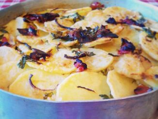 Tiella Barese: riso, patate e cozze