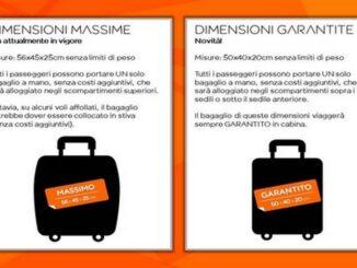 easyJet: dimensioni del bagaglio a mano garantito