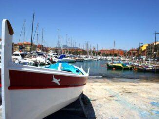 Particolare del porto di Nizza, in Francia