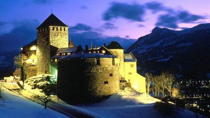 Castello di Vaduz, vista serale