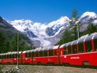Trenino delle nevi in Svizzera: Glacier-Express
