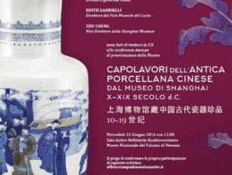 Capolavori dell'antica porcellana cinese dal Museo di Shanghai X-XIX secolo d.C.