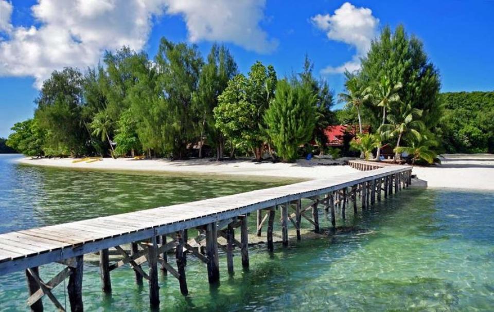 Carp Island Resort. Micronesia
