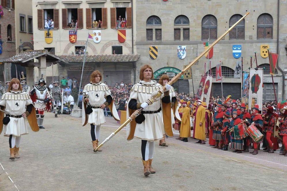 Momenti della Giostra Saracino ad Arezzo