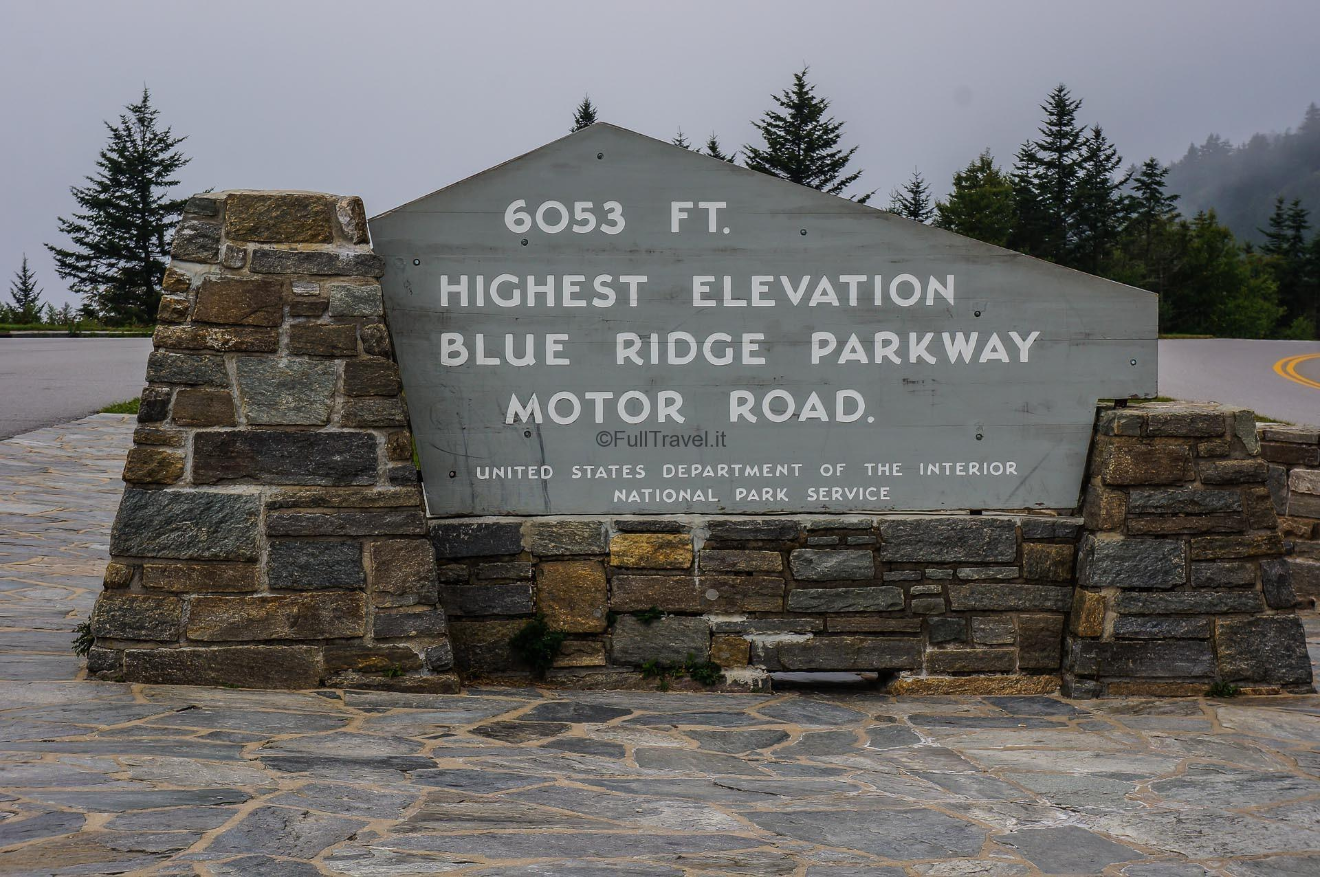 Foliage sulla Blue Ridge Parkway, Stati Uniti