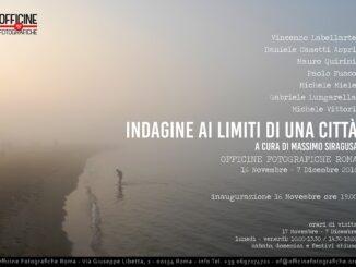 """Locandina Mostra fotografica a Roma, """"Indagine ai limiti di una città"""""""