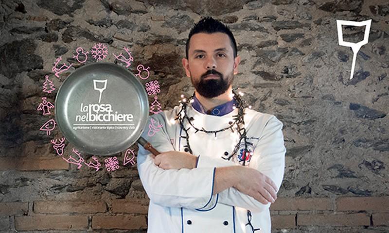 Lo chef Antonio Torchi per la La Rosa Nel Bicchiere, agriturismo in Calabria