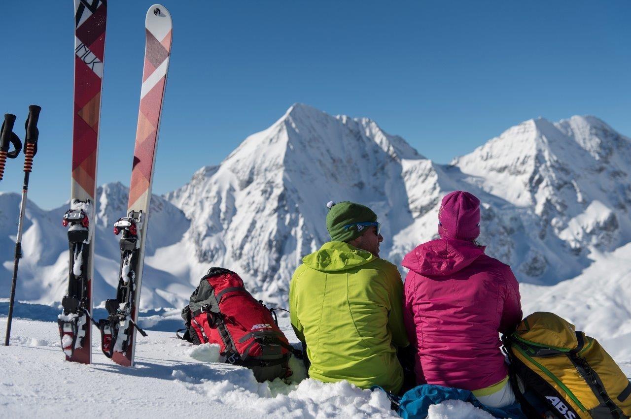 Sciatori in Val Venosta