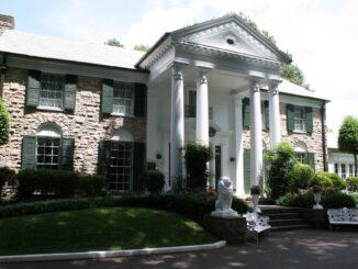 Graceland, la Casa di Elvis Presley a Memphis, nel Tennessee (Stati Uniti)
