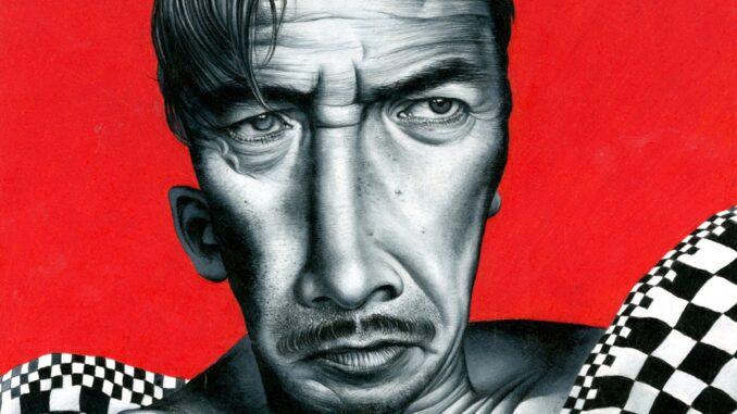 Jose Molina Il Grande Fratello 2017 matita grassa su carta cm 28,3 x 37,3 ©Ernesto Blotto