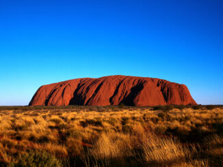 Ayers Rock Under a Blue Sky Uluru National Park, Australia
