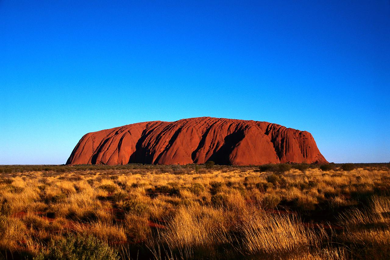 Ayers Rock Under a Blue Sky Uluru National Park, Australia