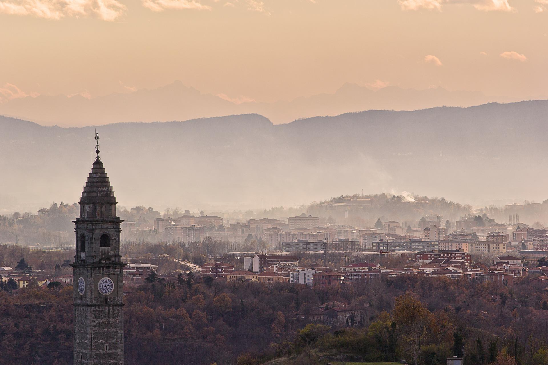 Ivrea, panorama della città