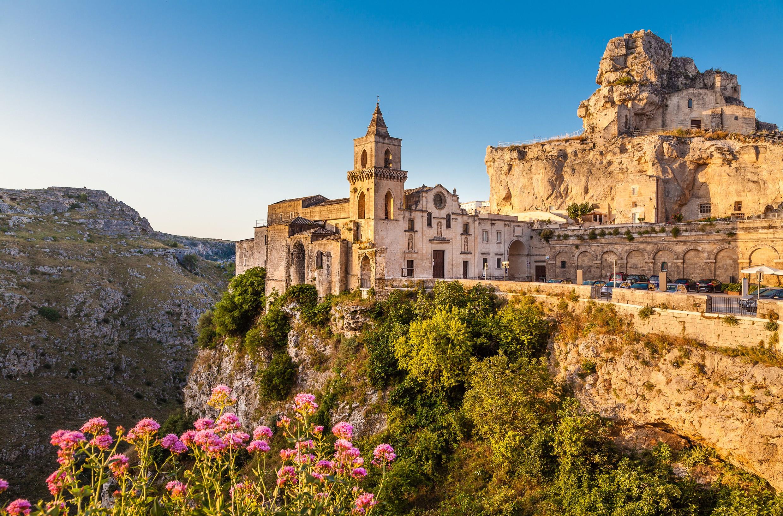 Sassi di Matera: vista di San Pietro Caveoso, Matera Capitale Europea della Cultura 2019