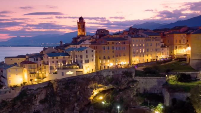 Veduta di Bastia, in Corsica