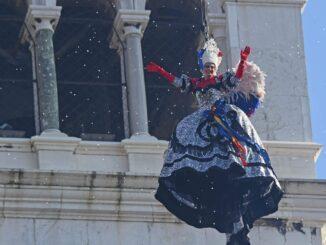 Venezia, carnevale 2018 - Volo dell'angelo Elisa Costantini(c)Vision/Vela