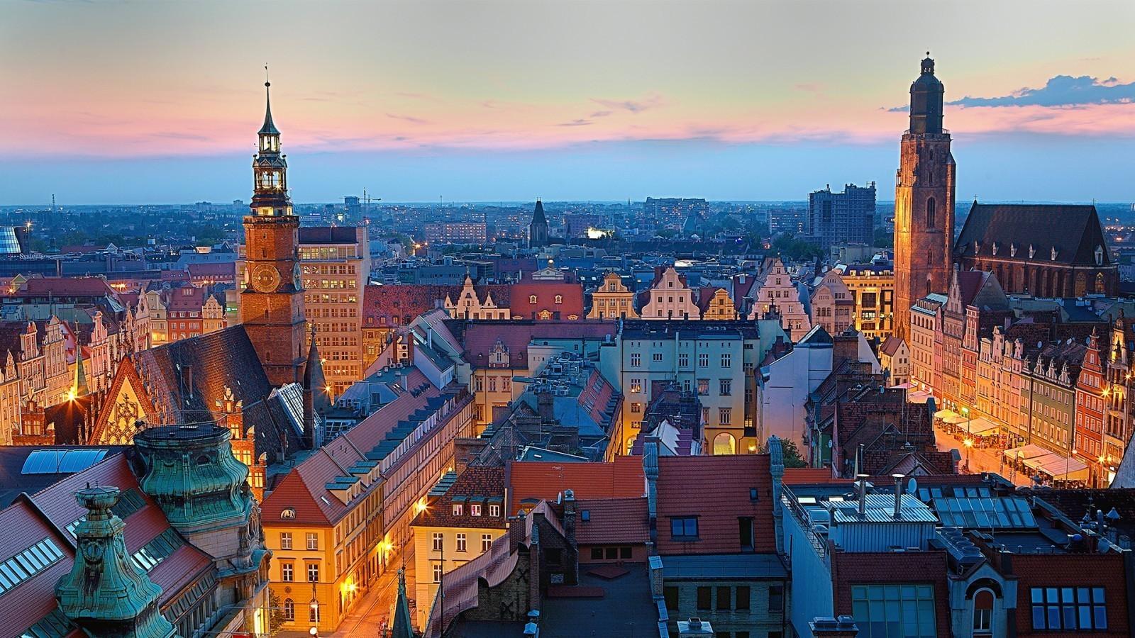 Varsavia, panorama della capitale della Polonia