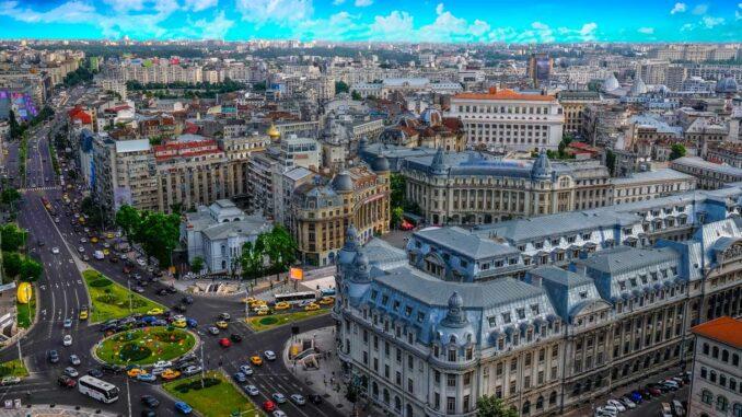 Panorama di Bucarest, Romania