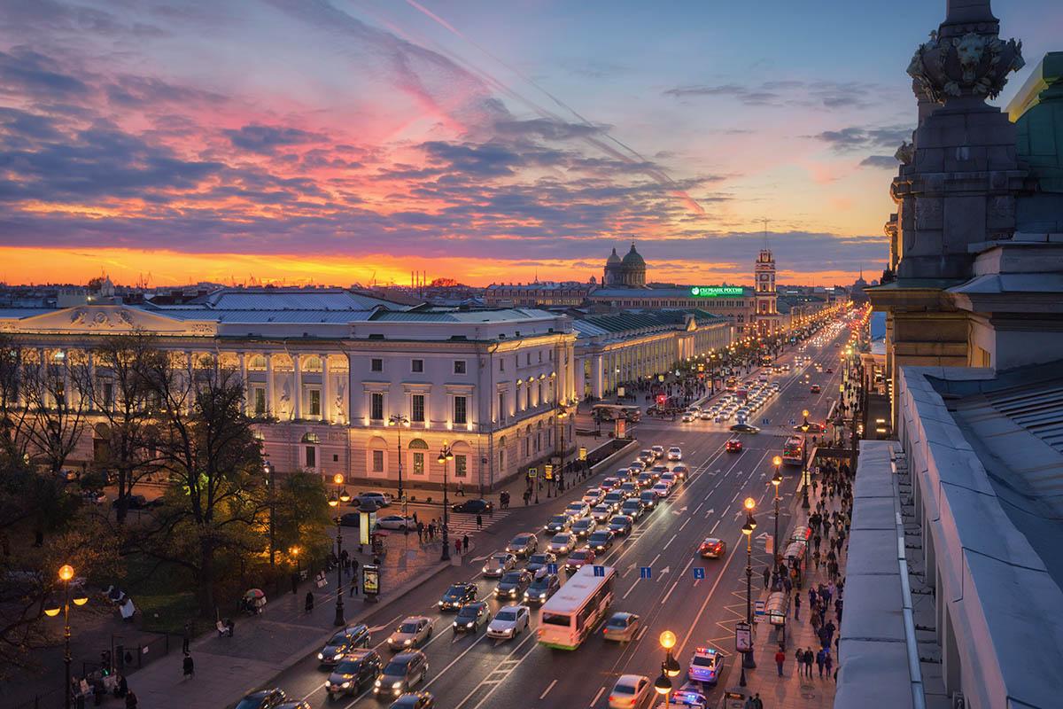Prospettiva Nevskij, San Pietroburgo - Foto iGuzzini