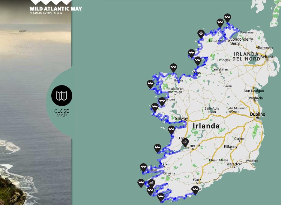 Irlanda: Wild Atlantic Way, mappa