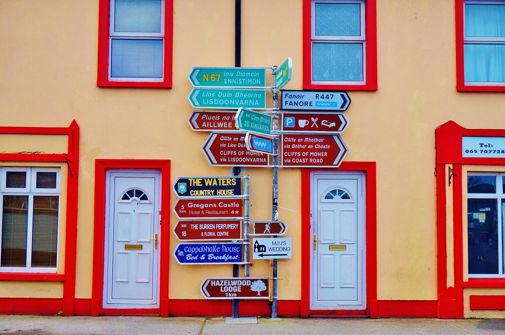 Pittoresca segnaletica di Galway