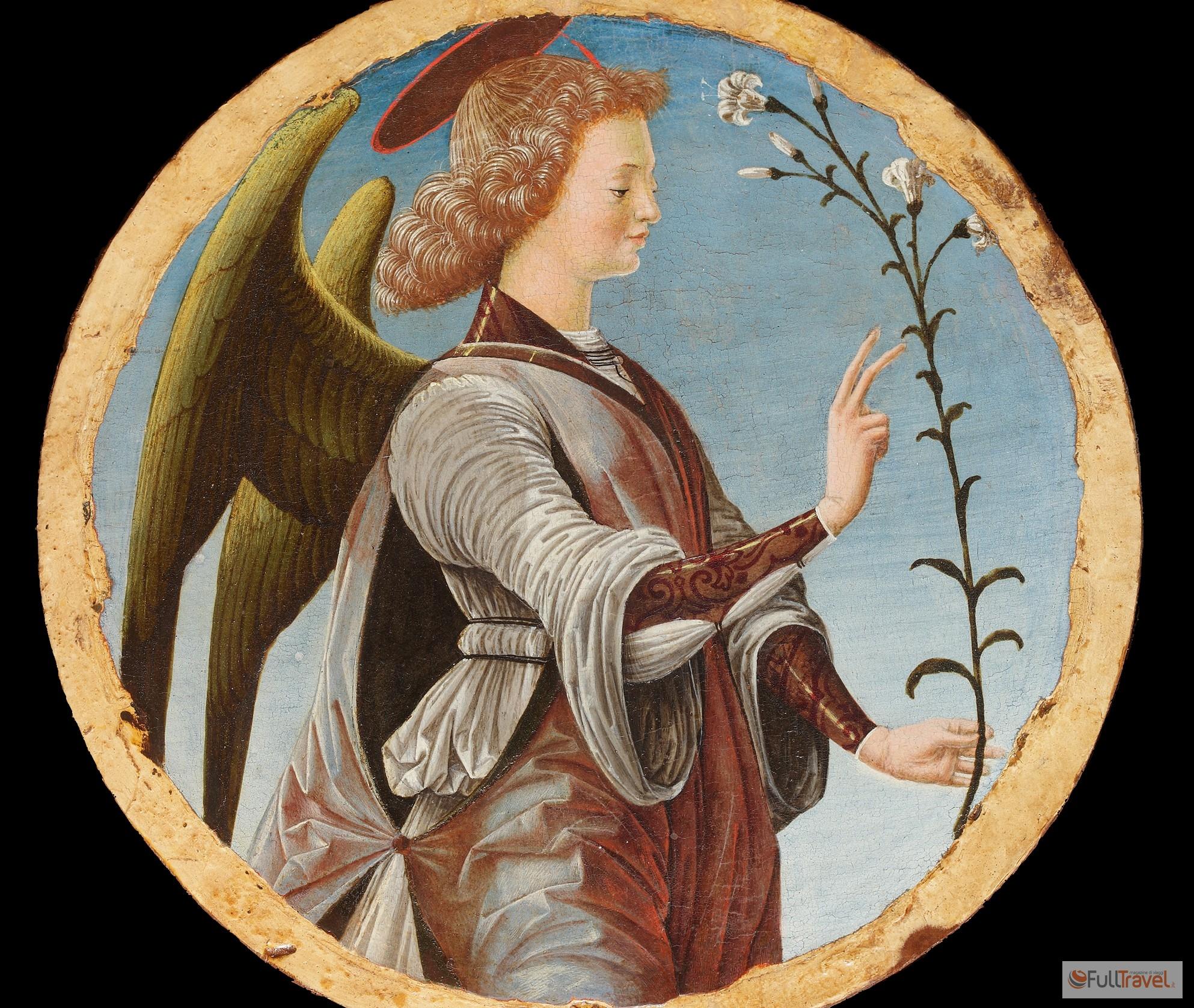 Angelo Annunciante, Francesco del Cossa - Collezione Cagnola, Gazzada