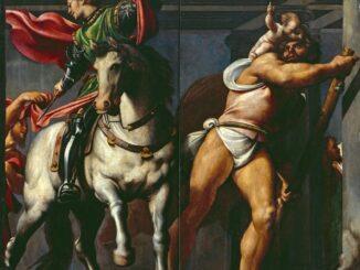 Il Pordenone: San Martino e Cristofaro - 1527 - 1528 Olio su tavola, cm 240x150 Venezia, Scuola Grande Arciconfraternita di San Rocco